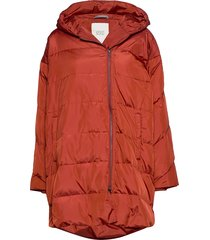 tuala coat gevoerde lange jas oranje masai
