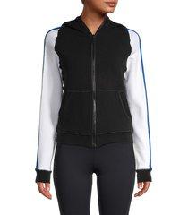 alala women's talus colorblock track jacket - black multi - size l