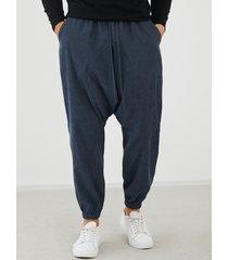 yoins basics hombres casual harem suelto entrepierna pantalones