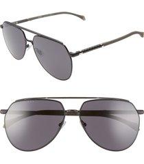 men's boss 61mm polarized aviator sunglasses -