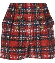 balmain embellished woven shorts