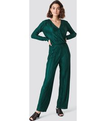 rut&circle pleated jumpsuit - green