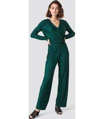 rut&circle pleated jumpsuit - green