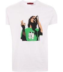 80s casuals richard ashcroft stan smith t-shirt - white