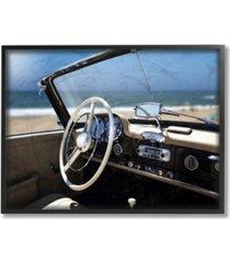 """stupell industries long beach vintage-inspired car framed giclee art, 11"""" x 14"""""""