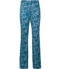 calvin klein 205w39nyc lace tailored trousers - blue