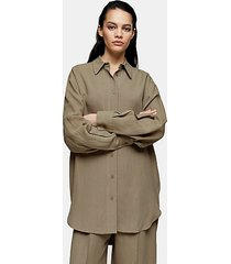 *olive twill oversized shirt by topshop boutique - olive