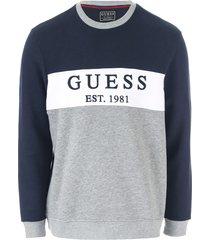 mens core logo fleece crew sweatshirt