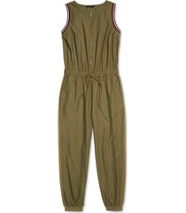 tommy hilfiger adaptive women's watson jumpsuit with front-zip closure