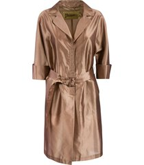 herno folded cuff belted coat