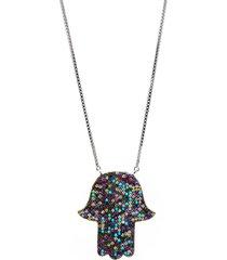 colar la madame co maxi colar multicolorido - multicolorido/prata - feminino - dafiti