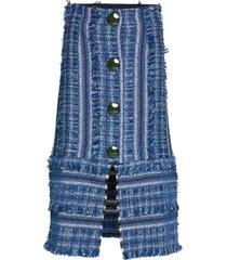 lake knälång kjol blå rodebjer