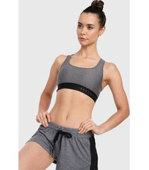 top gris-negro under armour mid crossback