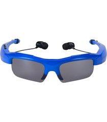 audífonos inalámbricos, sport riding eyes glasses bluetooth manos libres  4.0 auriculares estéreo conducir llamada de música manos libres gafas de sol smart para android ios smartphones y todos los dispositivos (azul)