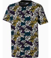 all-over printed t-shirt, blauw/meerkleurig, maat 116 | puma