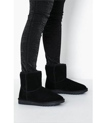 duffy leather warm boots flat boots svart