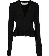 black viscose blouse