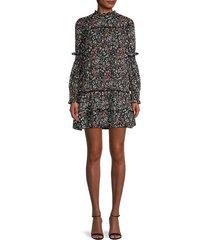 lea & viola women's floral-print woven dress - floral - size s