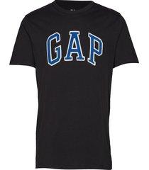 logo crewneck t-shirt t-shirts short-sleeved blå gap