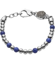 diesel men's beaded two-tone semi-precious bracelet