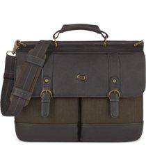 "solo bradford 15.6"" flapover laptop briefcase"