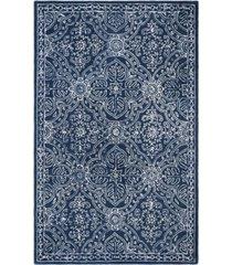 lauren ralph lauren etienne lrl6603n navy and ivory 5' x 5' round area rug