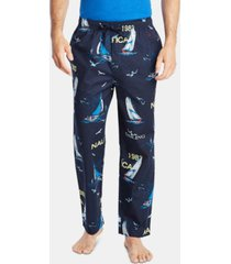 nautica men's cotton sailboat-print pajama pants