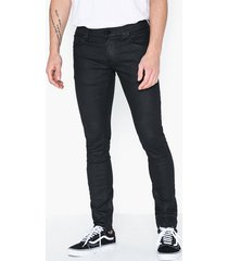 nudie jeans tight terry painted black jeans svart