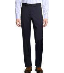 zanella men's parker class stretch-wool pants - blue - size 32