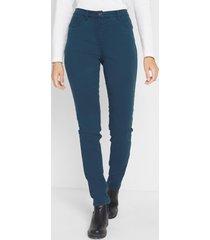 gekleurde 5-pocket-broek met comfortband, straight fit
