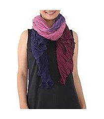cotton shawl, 'calm day' (thailand)