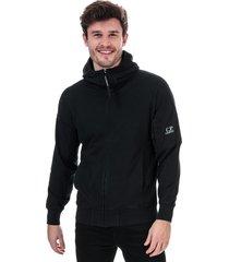 mens sleeve logo hooded zip sweatshirt