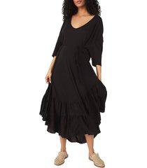 women's free people sunseeker maxi dress, size small - black