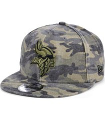 new era men's minnesota vikings worn camo 9fifty cap