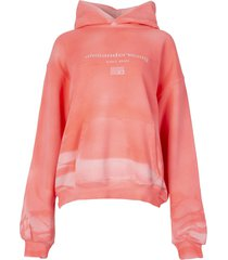 garment dyed hoodie bright pink