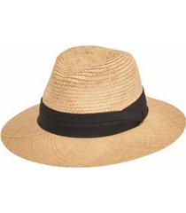 san diego hat men's raffia braid with bao straw brim fold band fedora