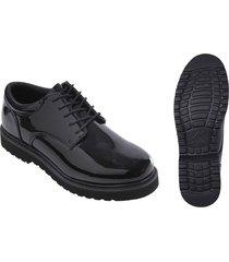 uniform high hi gloss oxford band parade military cadet work sole dress shoes