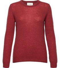 pure cashmere o-neck pullover stickad tröja röd sparkz copenhagen