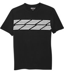 awearness kenneth cole aweartech modern fit t-shirt black & white stripe