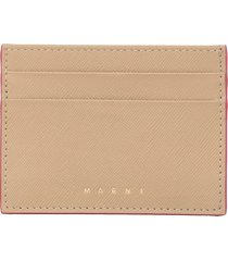 marni saffiano leather card-holder