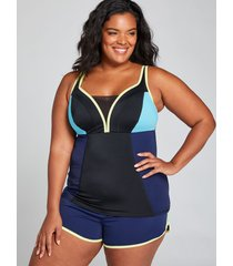 lane bryant women's fitted no-wire swim tankini top 20 new navy