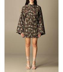the attico dress dakota the attico dress in patterned cotton