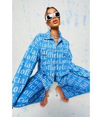 oversized spijkerjas, mid blue