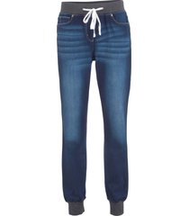 jeans boyfriend con cinta comoda (blu) - bpc bonprix collection