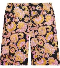 gucci paisley print straight-leg shorts - pink