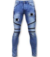 coole biker jeans heren ripped