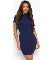 bodycon-mini-jurk met korte mouwen, marineblauw