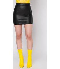 akira power vibez faux leather lace up mini skirt