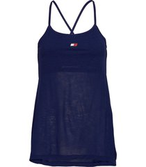 2 in 1 tape tank t-shirts & tops sleeveless blauw tommy sport