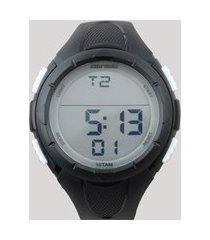 relógio digital mormaii masculino - mom148108b preto